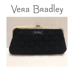 ⭐️ EUC Vera Bradley Black Kisslock Clutch Wallet